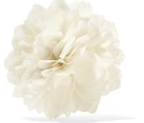 Brosche mit Seidenblume -