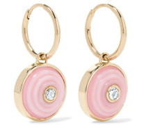 Dormeuse Ohrringe Aus 18 Karat  Mit Diamanten Und Opalen