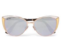Roséfarbene Cat-eye-sonnenbrille