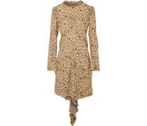 Verziertes Minikleid Aus Georgette Mit Blumenprint Und Rüschen -