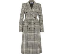 Hourglass Doppelreihiger Mantel Aus Einer Karierten Wollmischung -