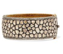 Armband Aus 14 Karat Gold Und Sterling Mit Diamanten