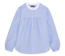 Raspberry Geraffte Bluse Aus Baumwolle - Blau