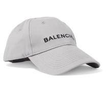 Bestickte Baseballcap aus Baumwoll-twill -