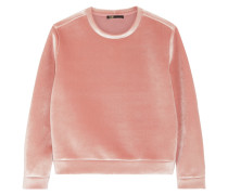 Sweatshirt Aus Stretch-samt -