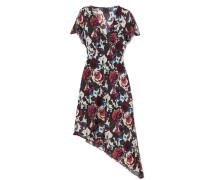 Birds And Roses Bedrucktes Kleid Aus Seidenchiffon -