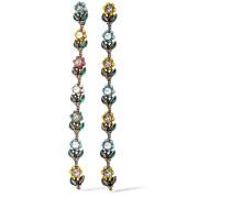 Ohrclips Mit Rutheniumauflage Mit Swarovski-kristallen Und Kunstperlen - Metallic