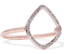 Riva Ring mit Roségoldauflage und Diamanten
