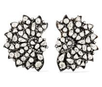 Ohrringe aus 18 Karat  und Sterlingsilber mit Diamanten