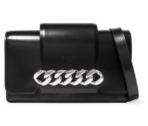 Infinity Schultertasche aus Leder mit Kettenbesatz -