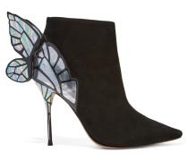 Chiara Ankle Boots Aus Veloursleder - Schwarz
