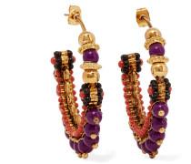 Vergoldete Creolen mit Perlen