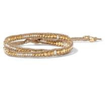 Vergoldetes Wickelarmband Mit Perlen