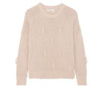Pullover Aus Baumwolle Mit Troddeln - Altrosa
