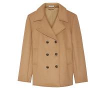 Doppelreihiger Mantel aus einer Wollmischung