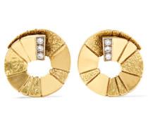Ohrringe Aus Den 1980er-jahren Aus 18 Karat  Mit Diamanten