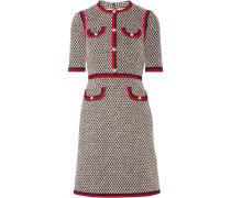 Minikleid Aus Tweed Aus Einer Baumwollmischung Mit Ripsbandbesatz -