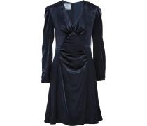 Gerafftes Kleid Aus Samt - Mitternachtsblau