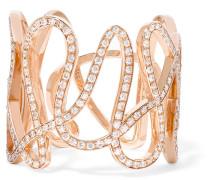 White Noise Ring Aus 18 Karat  Mit Diamanten