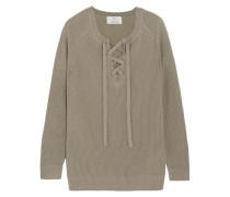 Pullover Aus Einer Woll-kaschmirmischung Mit Schnürdetail -