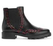 Chelsea Boots Aus Leder - Schwarz