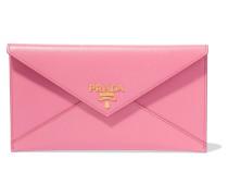 Envelope Portemonnaie Aus Strukturiertem Leder - Pink