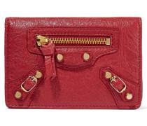 Classic Kartenetui Aus Strukturiertem Leder - Rot