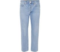 The Low Slung Verkürzte, Halbhohe Jeans mit Geradem Bein -