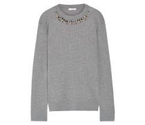 Lana Kristallverzierter Pullover Aus Einer Stretch-wollmischung In Zopfstrick -