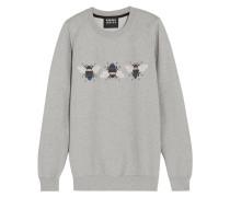 Bumble Bedrucktes Sweatshirt Aus Baumwolle Mit Stickereien - Grau