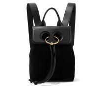 Pierce Mini Rucksack Aus Veloursleder Und Strukturiertem Leder -