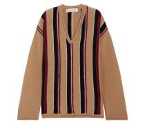Gestreifter Wollpullover In Oversized-passform -