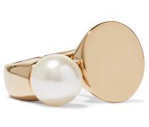 Darcy Goldfarbener Ring Mit Swarovski-perle