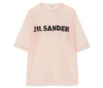Bedrucktes T-shirt Aus Organza -