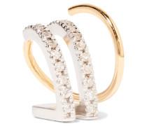 Bess Blanc Twirl Ohrring Aus 18 Karat  Mit Diamanten Und Rhodinierten Details
