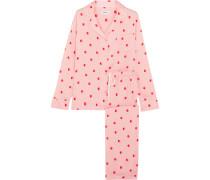 The Match Up Pyjama Aus Vorgewaschenem Satin Mit Polka-dots -