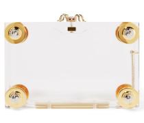 Handroid Verzierte Clutch Aus Perspex - Gold