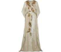 Verzierte Robe Aus Lamé Aus Einer Seidenmischung Mit Metallic-effekt -
