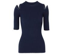 Pullover Aus Einer Gerippten Merinowollmischung Mit Reißverschlussdetails -