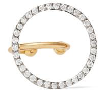 Celeste Ear Cuff Aus 18 Karat Weiß- Und Gelb Mit Diamanten