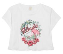 Florida Verkürztes T-shirt Aus Bedrucktem Baumwoll-jersey -