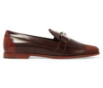 Loafers Aus Brüniertem Leder - Braun