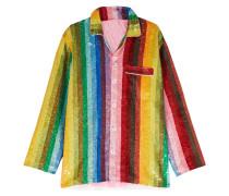 Baumwollhemd Mit Mehrfarbigen Pailletten -