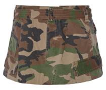 Minirock Aus Baumwoll-twill Mit Camouflage-print -