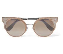 farbene Cat-eye-sonnenbrille Mit Glitter-finish