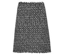 Paillettenverzierter Minirock Aus Tweed Mit Fransen - Schwarz