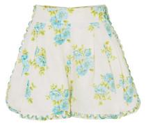 Whitewave Honeymooners Shorts Aus Leinen Mit Blumendruck -