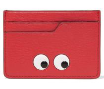 Eyes Kartenetui Aus Strukturiertem Leder Mit Prägung - Rot