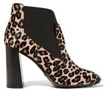 Ankle Boots Aus Kalbshaar Mit Leopardenprint - Leoparden-Print