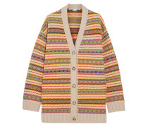 Cardigan Aus Wolle Mit Fair Isle-muster -